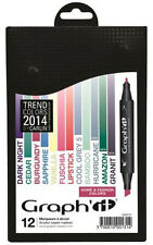 Graph It Marker Pen Set - 12 Colour Box - 2014 Home and Fashion