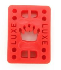 "Luxe 1/8"" Straight Wall Skateboard Longboard Riser Pads (2 pcs) - Red"