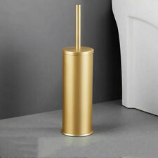 Gold Toilet Brush Holder Set Aluminum Free Standing Toilet Brush Holder Shelf