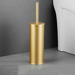Gold Toilet Brush Holder Set Aluminum Free Standing Toilet Brush Holder Shelf