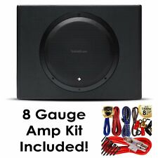 "Rockford Fosgate P300-12 12"" 300W Sealed Powered Subwoofer Sub Enclosure w/ Kit"
