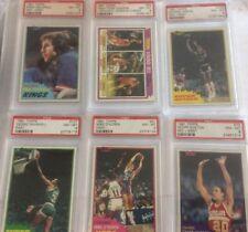1981 TOPPS BASKETBALL PSA 8 NM-MT   Lot Of (15)  Julius Erving++++