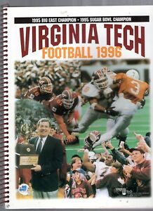 1996 VIRGINIA TECH FOOTBALL MAROON BOOK-MEDIA GUIDE-YEARBOOK-164 PAGES