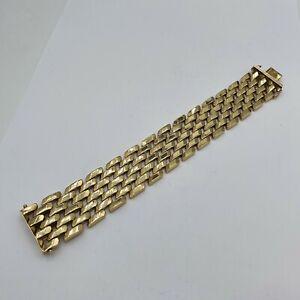 A175# schönes breites Armband G Gold 333 punziert 49,3g