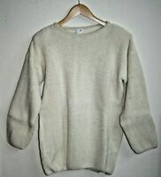 Vintage Womans Girls Retro Fashion Jumper Cream Knitted 80's 90's Oversize Acryl
