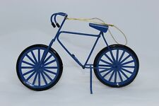 Bicycle Ornament Blue rotating Tires Bike with Kick Stand Boy's Man's Spin