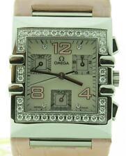 Omega Constellation Quadra 1847.70.34 Lady Quartz Pink Diamonds Watch Brand New