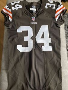 Nike NFL Cleveland Browns Isaiah Crowell Football Game issued jersey sz 42 2013