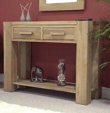 Pemberton solid modern oak hallway furniture console hall table
