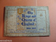 Kings & Queens of England 1066-1935 Player Tobacco Cards Fulll Set in Booklet