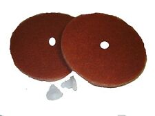 Koblenz Tan Cleaning Pads - 2 pack with clips
