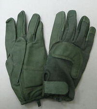 US ARMY COMBAT GLOVE HCG 0014 KEVLAR GOATSKIN LEATHER FOLIAGE GREEN NEW SMALL