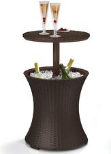 Cool Bar Rattan Outdoor Patio Pool Cooler Table Brown Brand New Keter 7.5-Gal