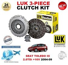 FOR SEAT TOLEDO III 2.0 TDi + 16V 2004-2009 CLUTCH KIT LUK 240mm DIAM 3 PIECE