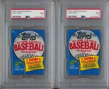 1983 Topps Baseball Factory Sealed Wax Pack NM Lot of Two (2) PSA 7 NM 2541 2542