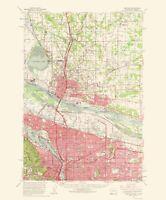 Topo Map - Portland Oregon Washington Quad - USGS 1963 - 23.00 x 27.72