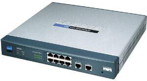 Linksys RV082 Dual WAN VPN Router (8x LAN, 1x WAN, 1x DMZ/WAN)