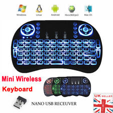 LED Backlit 2.4G Mini Wireless Keyboard Touchpad Mouse Fr Smart TV Box PC Laptop