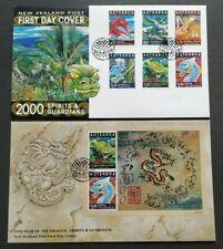 2000 New Zealand Zodiac Lunar Year Dragon Spirit Guardian Stamps & MS  FDC(pair)