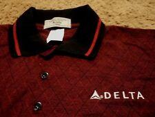 NEW Men's ~ Delta Airlines Embroidered Widget ~ Polo Golf Novelty Shirt Medium