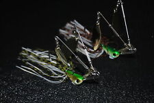 2 X 1/2oz Spinnerbaits-Twin Arm quad blade Lure G&B  Bass/Cod/Yellow belly