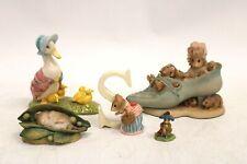 More details for vtg bundle 5x beatrix potter figurine royal doulton border fine arts fw co -r34