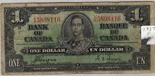 1937 Bank of Canada One Dollar Bill (P169)