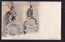 c1905 ND phot child statue pissing comic Brussels Belgium postcard