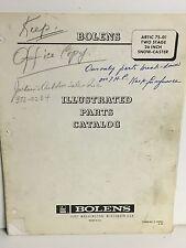 "BOLENS ARCTIC 75-01 26"" SNOW THROWER ILLUSTRATED PARTS CATALOG"