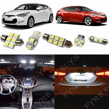 8x White LED lights interior package kit for 2012-2017 Hyundai Veloster YV1W