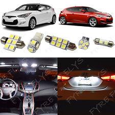 8x White LED lights interior package kit for 2012-2017 Hyundai Veloster YV1W