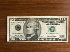 1999 $10 Star Notes  currency Lot of 6   * Philadelphia    *C  Replacement note