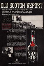 3w02545/vecchia pubblicità con loghi di 1968-VAT 69-Finest Scotch Whisky