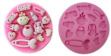 BABY SHOWER SILICONE MOULD-GIRL MOLD-FONDANT ICING-CUPCAKE DECORATIONS-CUTE CAKE