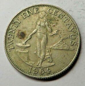 Philippines 25 Centavos 1964 Copper-Nickel-Zinc KM#189.1