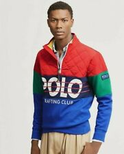 Polo Ralph Lauren Men Hi Tech Color Blocked Rafting CP 93 Pullover Sweatshirts