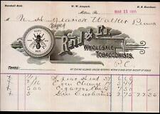 1895 Milton PA - Tobacco Busy Bee -  Reid & Co  Vintage Letter Head Rare