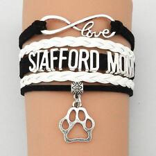 Armband Stafford Mom Hund weiß silber Damen Armreif love Valentins Geschenk NEU