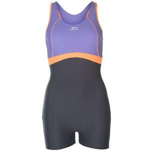 Slazenger Womens Boyleg Swimsuit Ladies Swimming Costume Beachwear