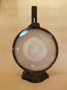 Vintage Wooden Hanging Plate Holder - Dark Brown & Adjustable