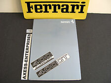 1977 1978 Ferrari 400 GT Automatic Owner Manual Operator Instruction Book # J156