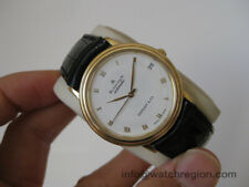 BLANCPAIN 18K SOLID GOLD VILLERET TIFFANY & CO. AUTO DATE WATCH 33.5MM SERVICED