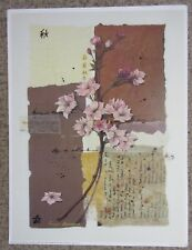 Julia Hawkins, Pink Cherry Blossom - Traditional Floral Art Print - 12x16 inch