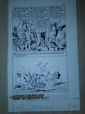 Norman Nodel WORLD AROUND US #36 FIGHT FOR LIFE pg 59 ORIGINAL COMIC ART 1961