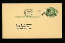 US Postal History Scott #UY7 Card Advertising Lit Bros NRA 1934 Philadelphia PA
