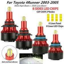 For Toyota 4Runner 9005 9006 LED Headlight Bulb Hi/Lo Beam 200W LED CAR 4X 03-05