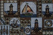 Tapestry Placemat~Sailboat~Lighthouse~Anchor~Buoy~Starfish~Beach~Nautical~NEW!