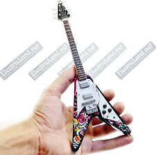 Mini Guitar 1:4 JIMI HENDRIX flying V psychedelic miniature gadget collectible