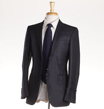 NWT $1295 CORNELIANI TREND Solid Black Extrafine Wool Suit 34 R or slim 36R