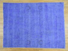 """7'9""""x10'3"""" Hand-Knotted Peshawar Overdyed 100 Percent Wool Oriental Rug R34801"""